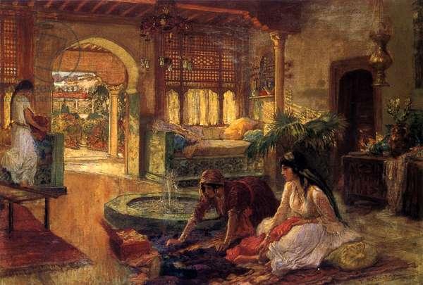 An Oriental Interior, 1900 (oil on canvas)