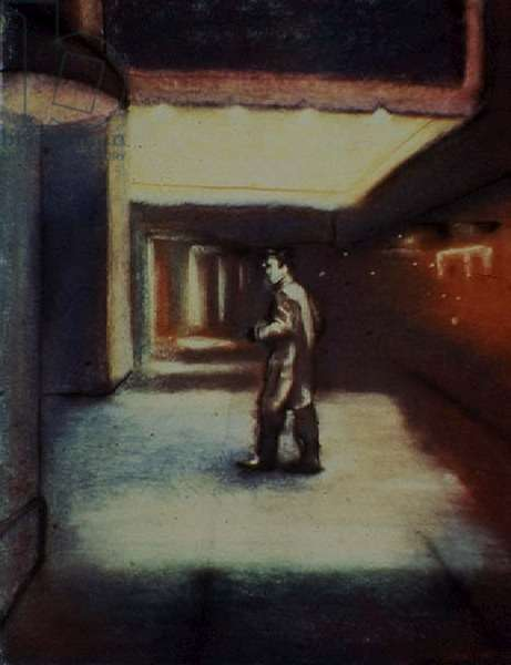 In the Corridors, 1985 (oil on canvas)