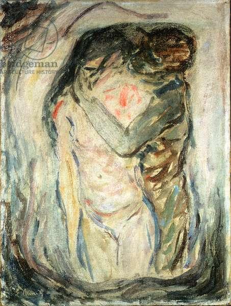 The Kiss, c.1910 (oil on canvas)