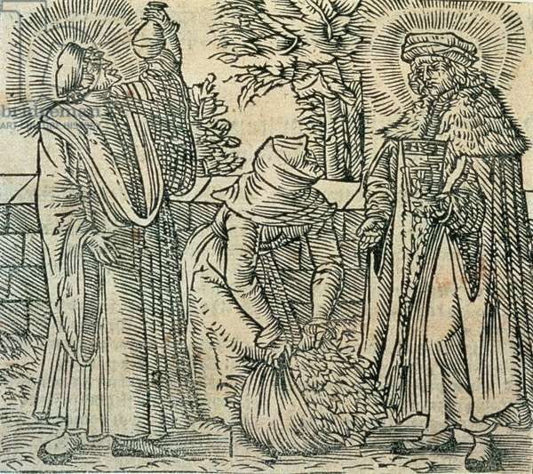 Collecting Herbs for Medicine, 1534 (woodcut)