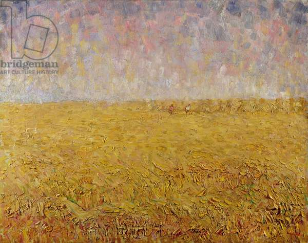 The Ripe Wheat (oil on canvas)