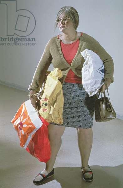 Young Woman Shopper, 1973 (polyester resin & oil medium)