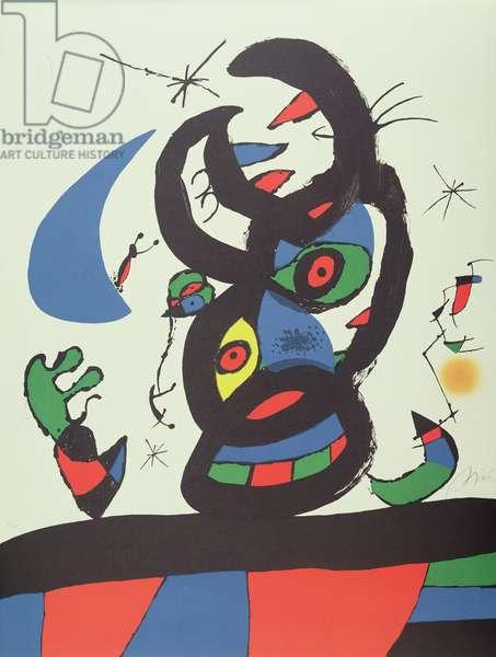 Montroig l, 1974 (colour lithograph)