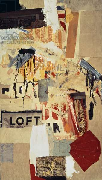 Double Feature, 1959 (mixed media on canvas)