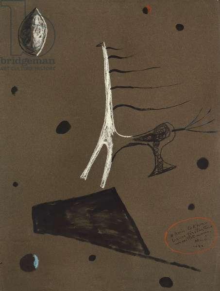 The Trojan Horse, 1926 (gouache & chalk on paper)