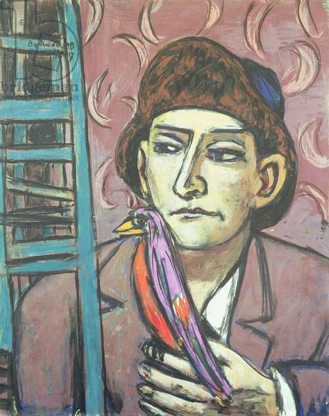 The Man with a Bird, 1950 (oil on canvas)