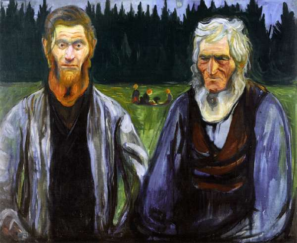 Father and Son, c.1904 (oil on canvas)