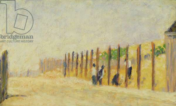 Pushing in the Poles, c.1882 (oil on canvas)