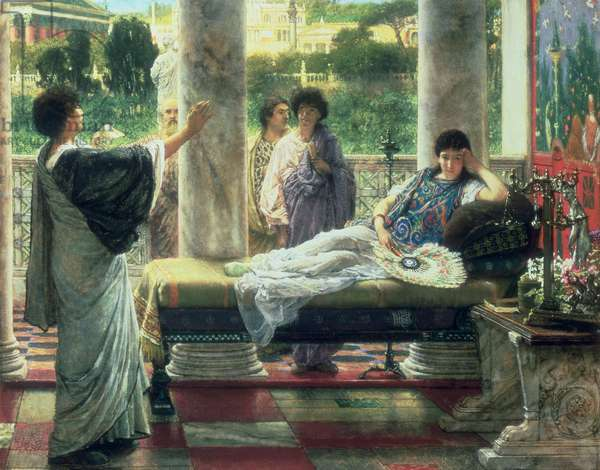 Catullus Reading his Poems at Lesbia's House, 1870 (oil on canvas)