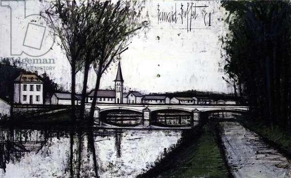 The Bridge, 1961 (oil on canvas)