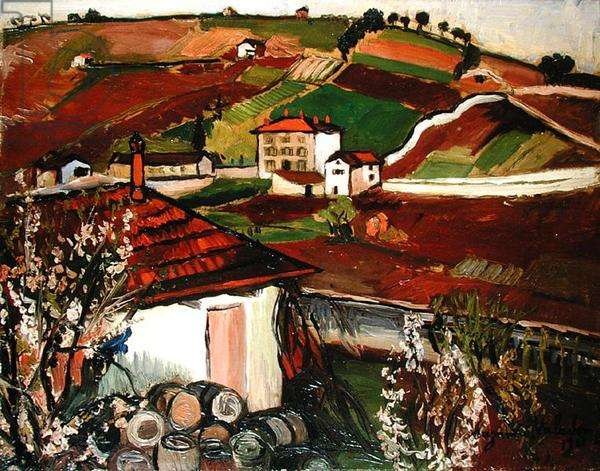 Houses in the Countryside, 1921 (oil on canvas)