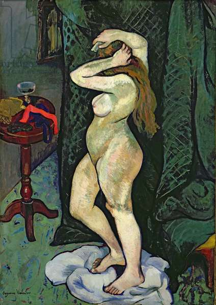 Nude Arranging her Hair, c.1916 (oil on canvas)