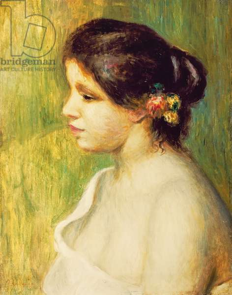 Young Woman with Flowers at her Ear, 1898 (oil on canvas)