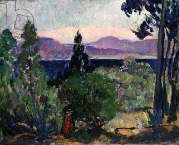 Landscape of the Midi (oil on canvas)