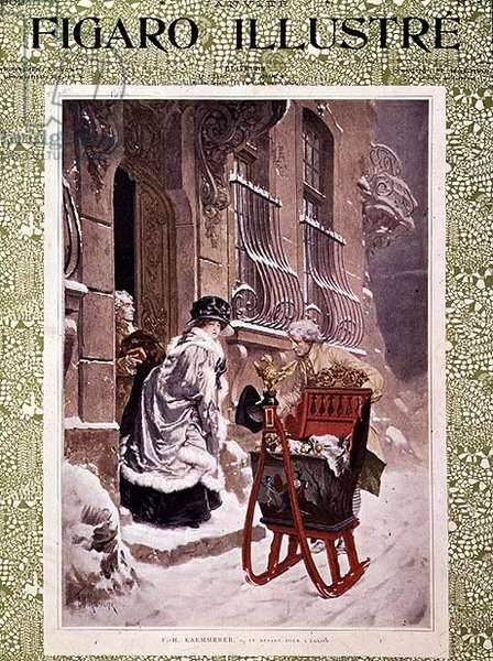 Leaving for Church, from the 'Figaro Illustre', January 1902 (colour litho)