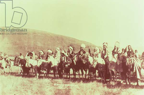 Nez Perce on the Warpath, 1906 (b/w photo)