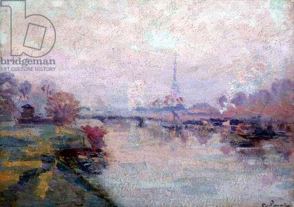 The Seine at Paris (oil on canvas)