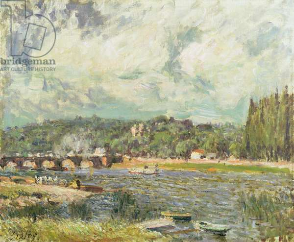 The Bridge at Sevres, c.1877 (oil on canvas)