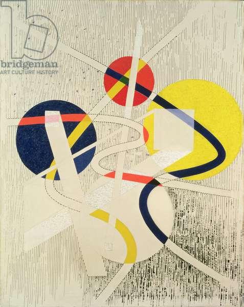 Nuclear Space, 1946 (oil on canvas)