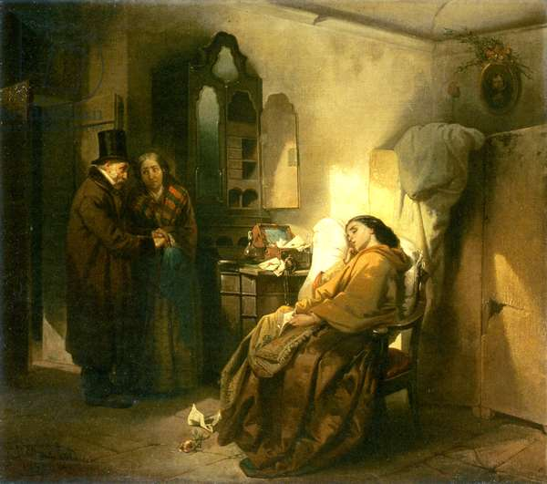 Abandoned, 1858 (oil on canvas)
