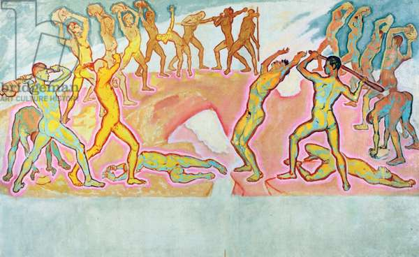 The Clash of the Titans, 1913-15 (oil on canvas)