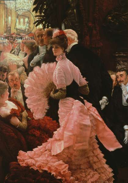 The Reception or, L'Ambitieuse (Political Woman) c.1883-85 (oil on canvas)