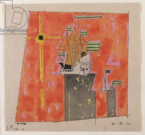 Model Ships, 1939 (w/c, pen and ink on paper)