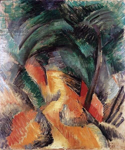 Path at L'Estaque, 1908 (oil on canvas)