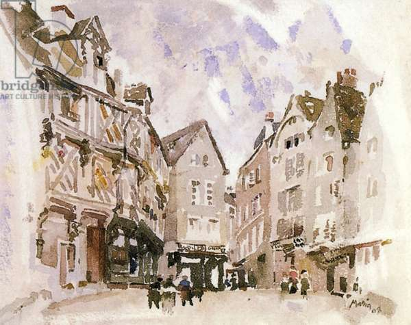 Chartres, 1908 (w/c on paper)