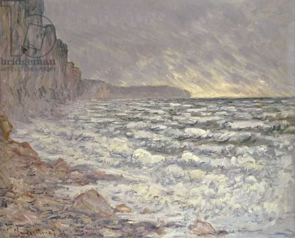 The Sea at Fecamp, 1881 (oil on canvas)