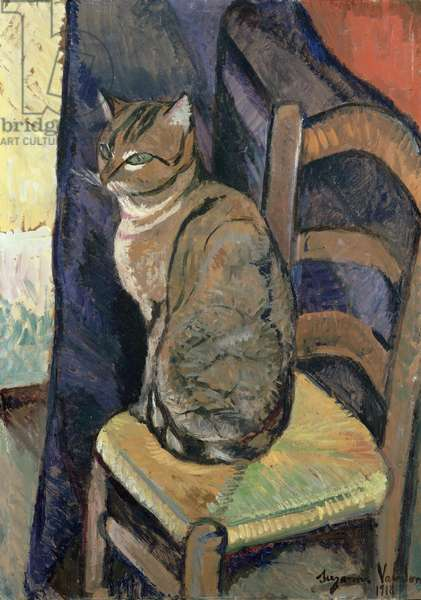 Study of a Cat, 1918 (oil on canvas)