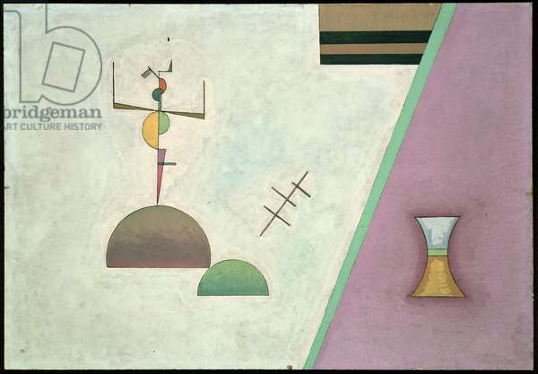 Two Black Lines, 1930 (oil on panel)