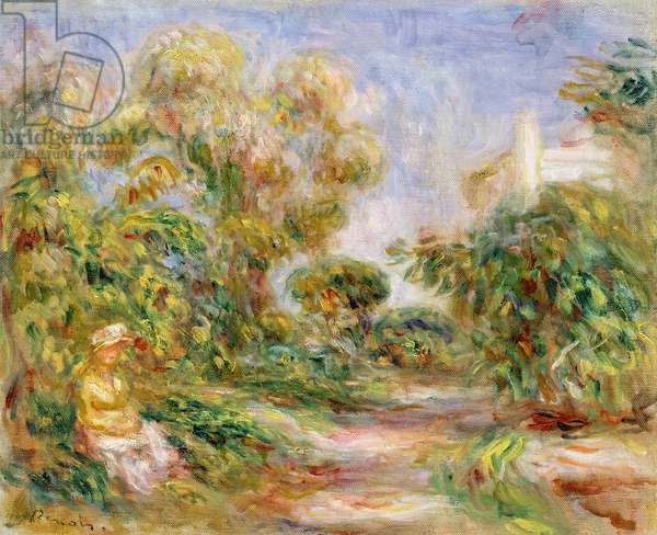 Woman in a Landscape, c.1918 (oil on canvas)