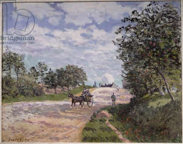 The Road from Mantes to Choisy le Roi, 1872
