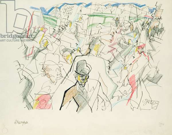 The Street, c.1915-16 (pen& ink and pencil on paper)