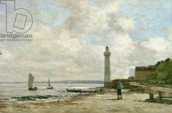 Lighthouse at Honfleur, 1864-66 (oil on panel)