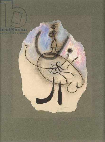 Composition (pastel & ink on paper)