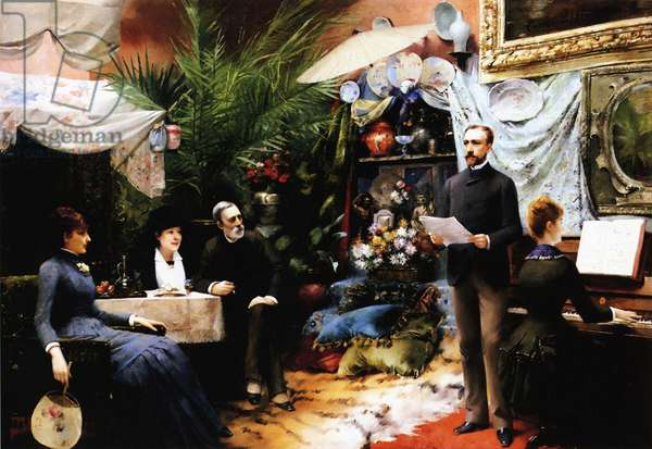 An Afternoon Song, 1885 (oil on canvas)