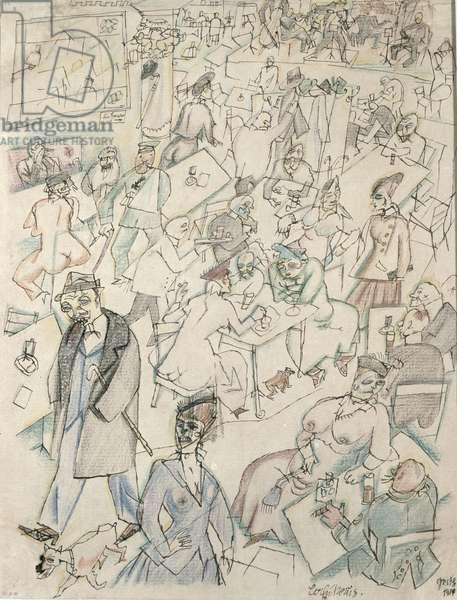Cafe Scene, 1914
