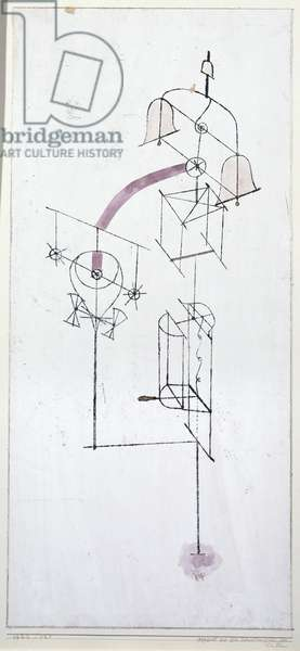 Apparatus from the consulting room of Dr. Ph., 1922 (no 121) (oil transfer drawing w/c and pencil on primed paper)