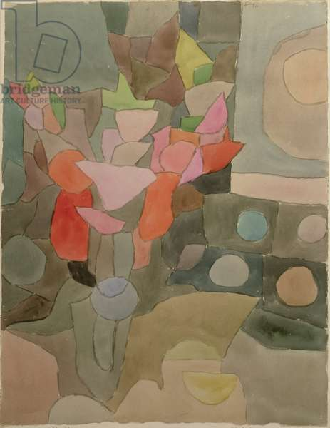 Still Life with Gladioli, 1932 (no 223) (w/c & chalk on paper on cardboard)