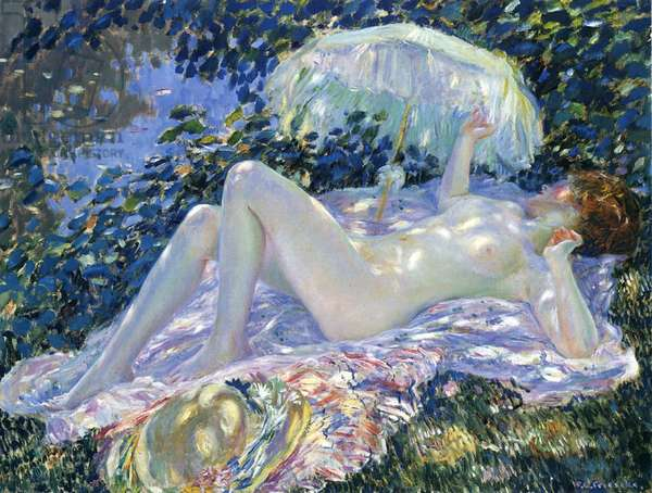 Sunbathing, c.1913 (oil on canvas)