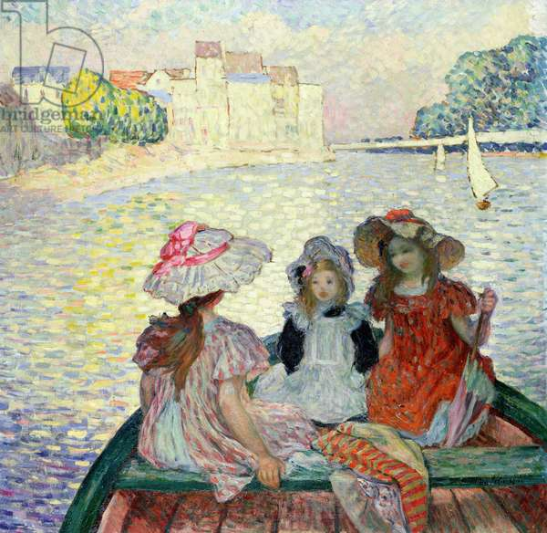 Young Girls in a Boat, c.1900