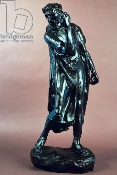Study for Pierre de Wissant, from the Burghers of Calais, c.1905-10 (bronze)