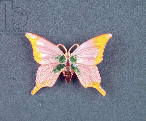 Art Deco Butterfly, English, c.1920 (enamel)