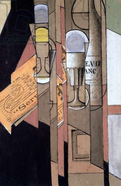 White Bordeaux, 1913 (gouache & pencil on paper)