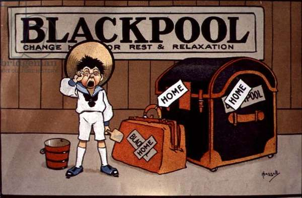 'Blackpool, Change Here for Rest and Relaxation' (lithograph)