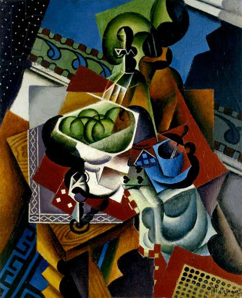 Cubist Still Life with a Bowl of Green Apples, 1917 (oil on canvas)
