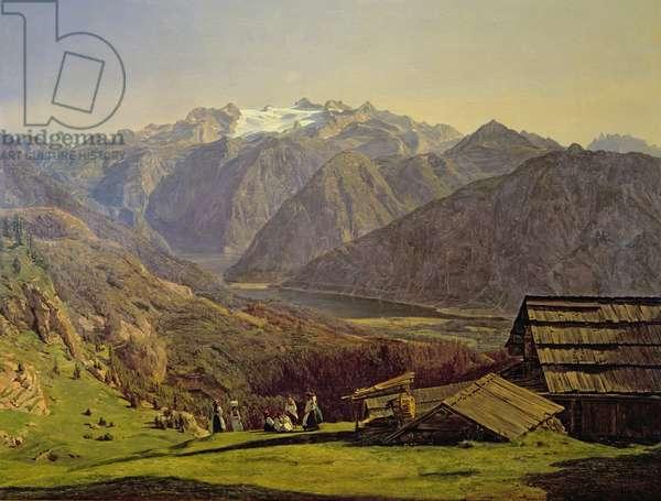 Hallstatter-See (oil on canvas)