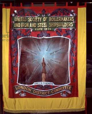 Banner of the United Society of Metallurgist Union, 19th/20th century (textile)